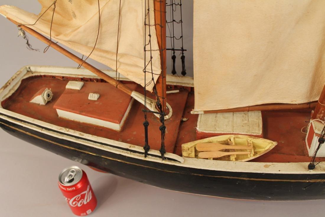 Large Two Masted Schooner Boat Model - 3