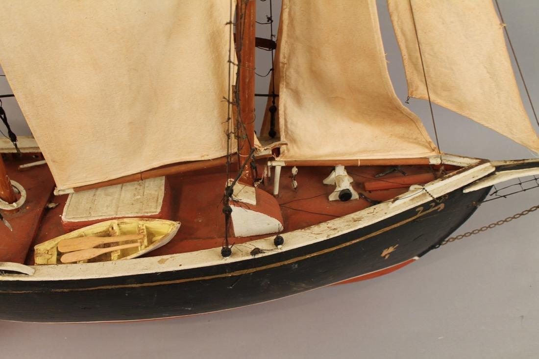 Large Two Masted Schooner Boat Model - 4