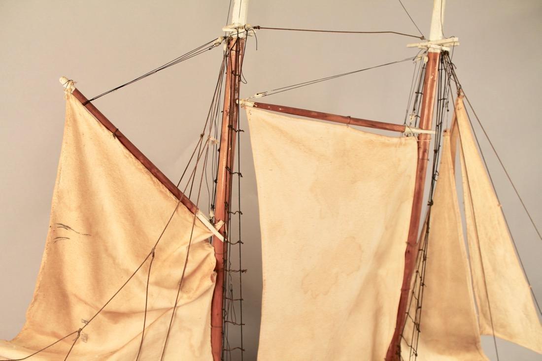 Large Two Masted Schooner Boat Model - 5
