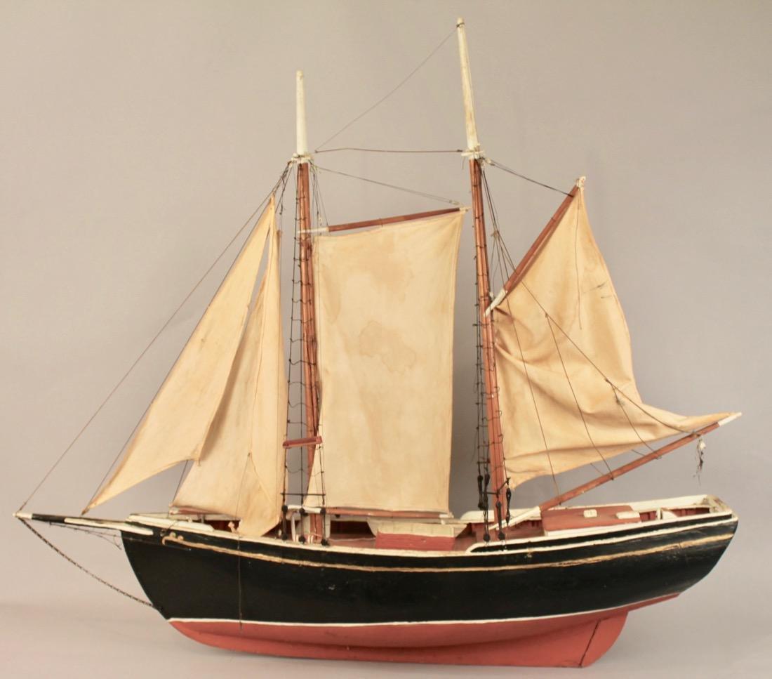 Large Two Masted Schooner Boat Model - 6