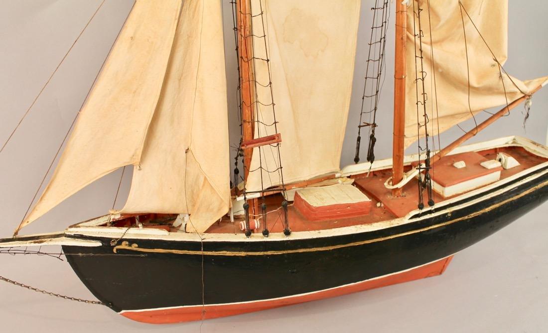 Large Two Masted Schooner Boat Model - 7