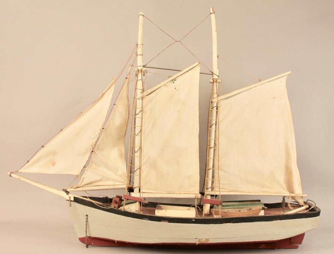 Two Masted Schooner on Stand - 4