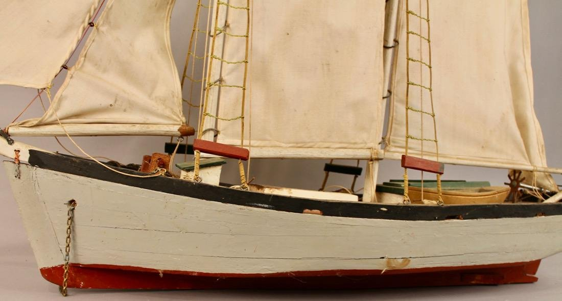 Two Masted Schooner on Stand - 5