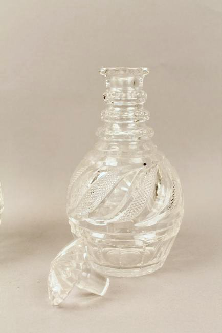 Pr Cut Crystal Decanters marked Checkoslovakia - 3