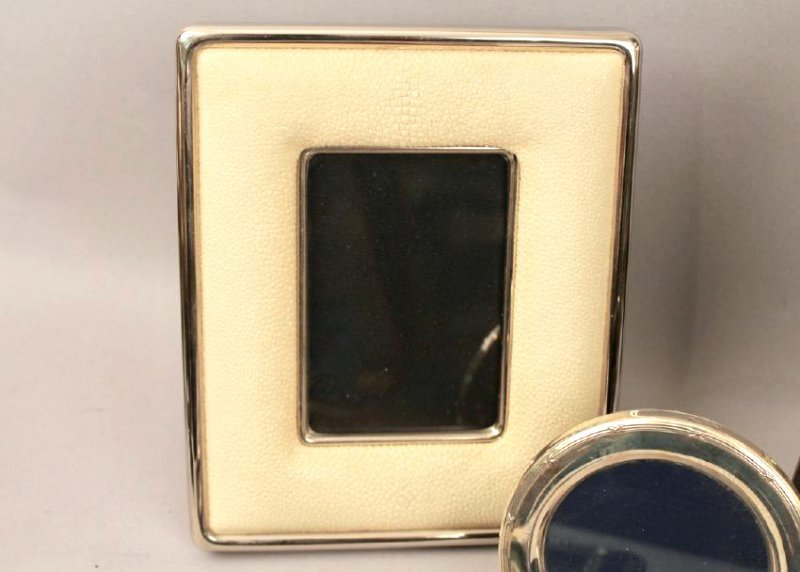 5 Sterling Silver Frames, 1 with Shagreen - 3