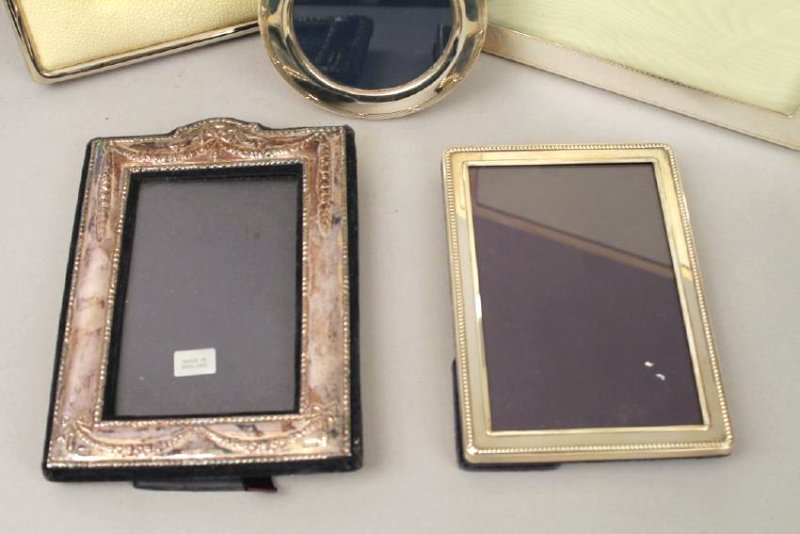 5 Sterling Silver Frames, 1 with Shagreen - 4