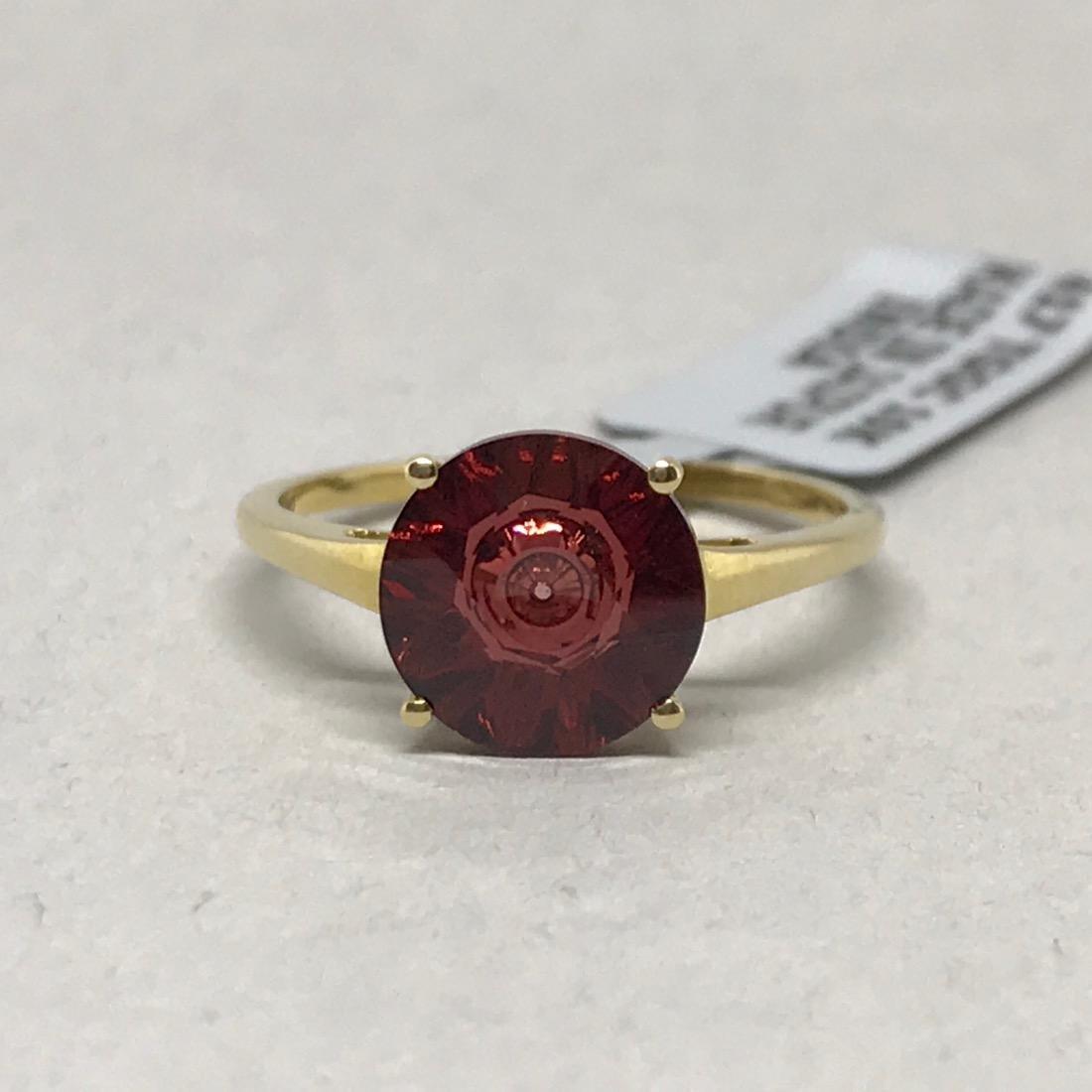 10 Kt Gold Ring w Cognac Topaz Glenn Lehrer