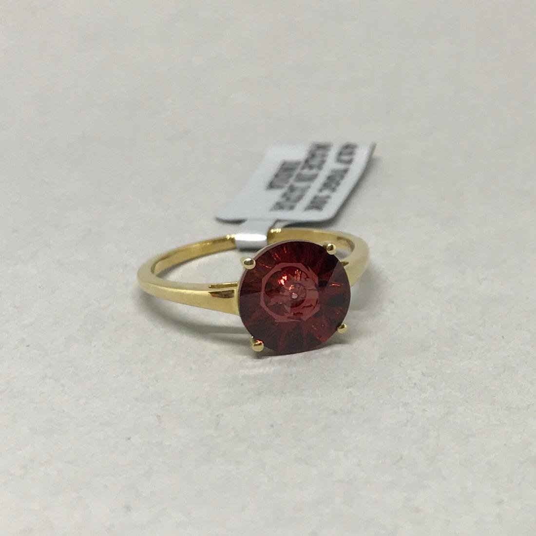 10 Kt Gold Ring w Cognac Topaz Glenn Lehrer - 2