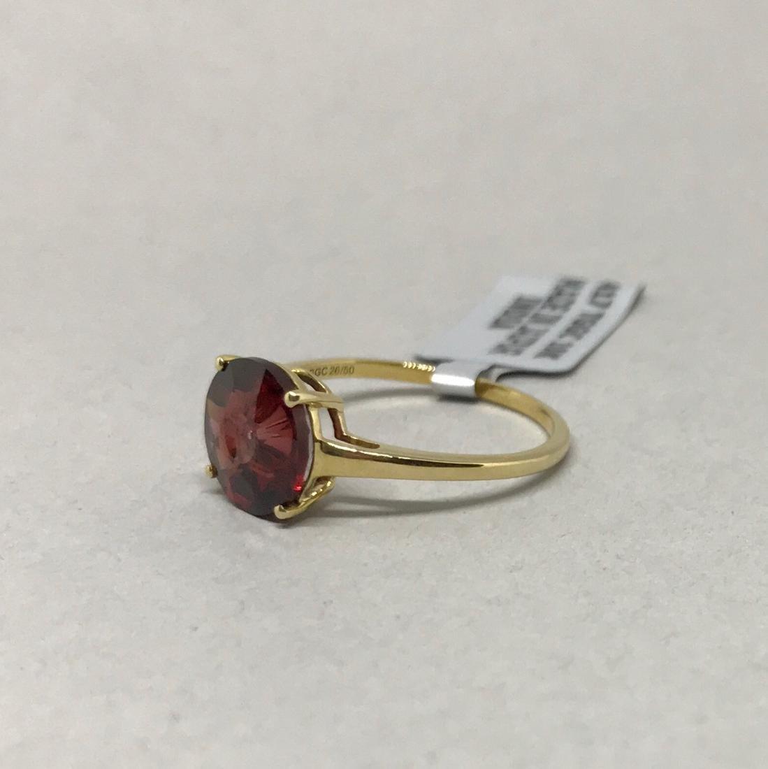 10 Kt Gold Ring w Cognac Topaz Glenn Lehrer - 3