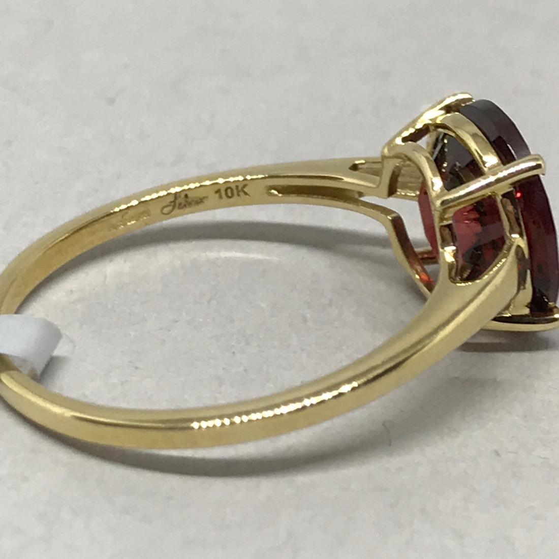 10 Kt Gold Ring w Cognac Topaz Glenn Lehrer - 5
