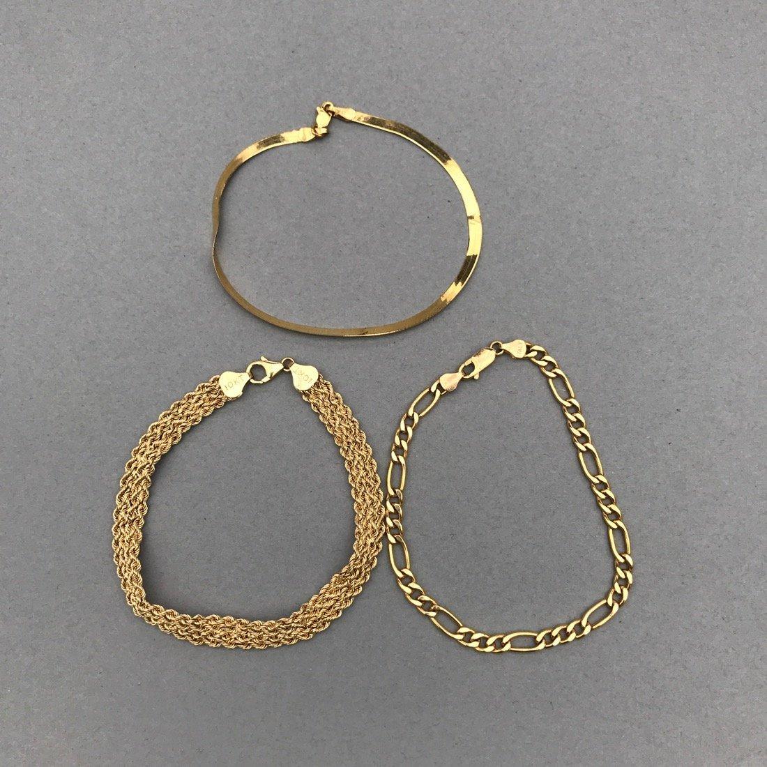 3 10K Gold Bracelets