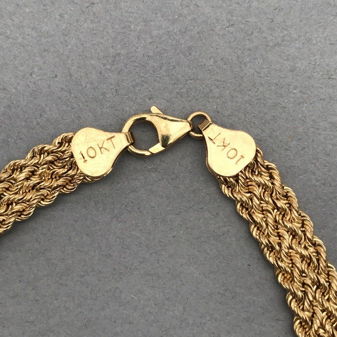 3 10K Gold Bracelets - 3