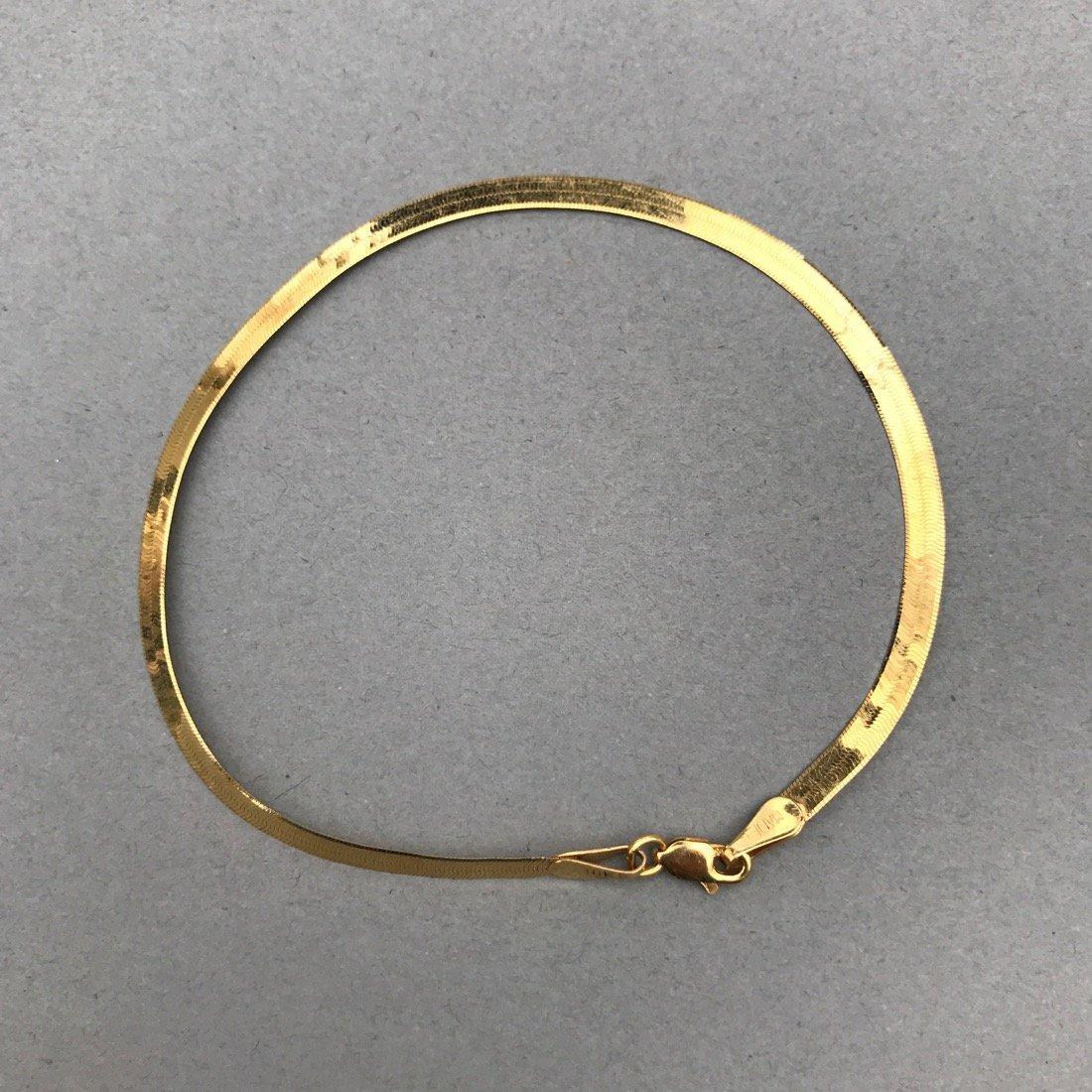 3 10K Gold Bracelets - 8