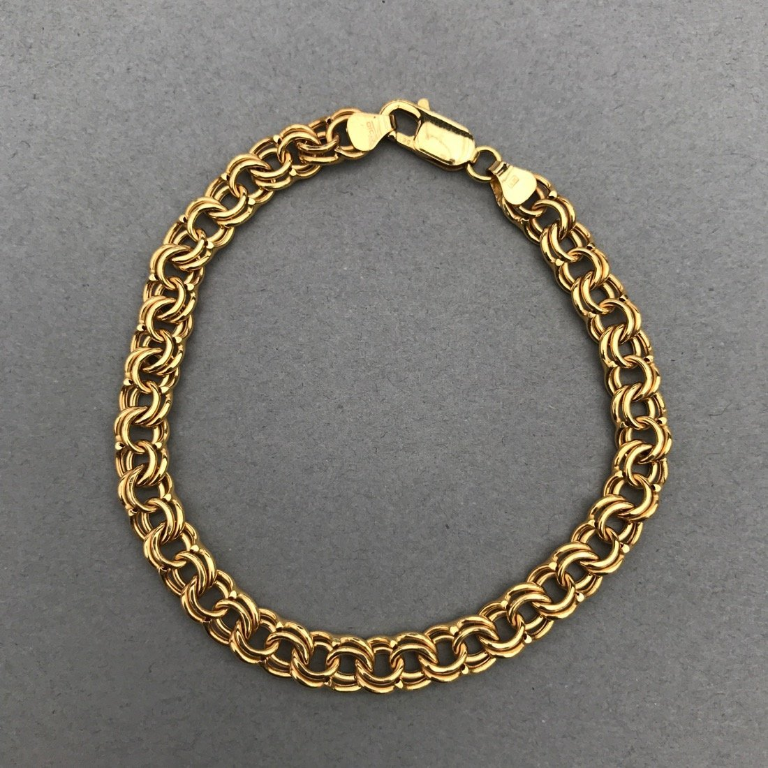 14K Gold Chainmail Style Bracelet