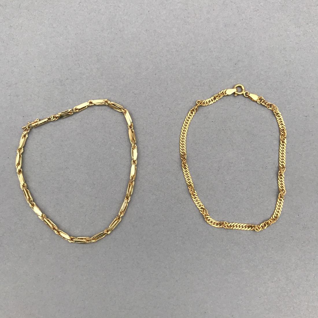 2 14K Gold Bracelets
