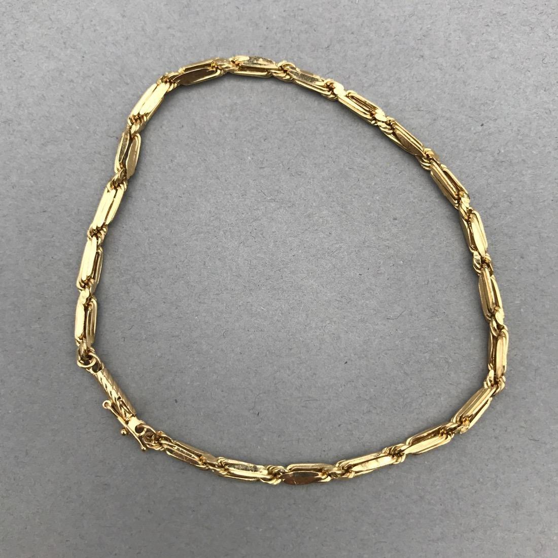 2 14K Gold Bracelets - 5