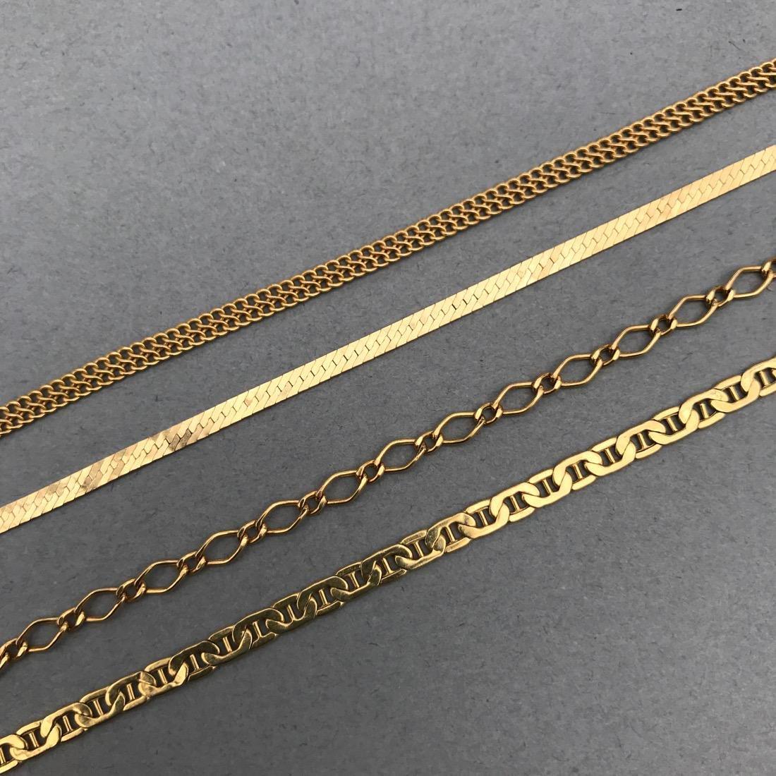 4 14K Gold Bracelets - 2