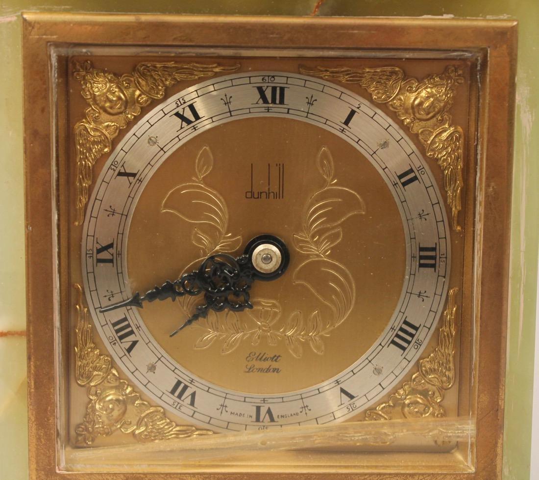 Dunhill Brass and Green Onyx Shelf Clock - 2