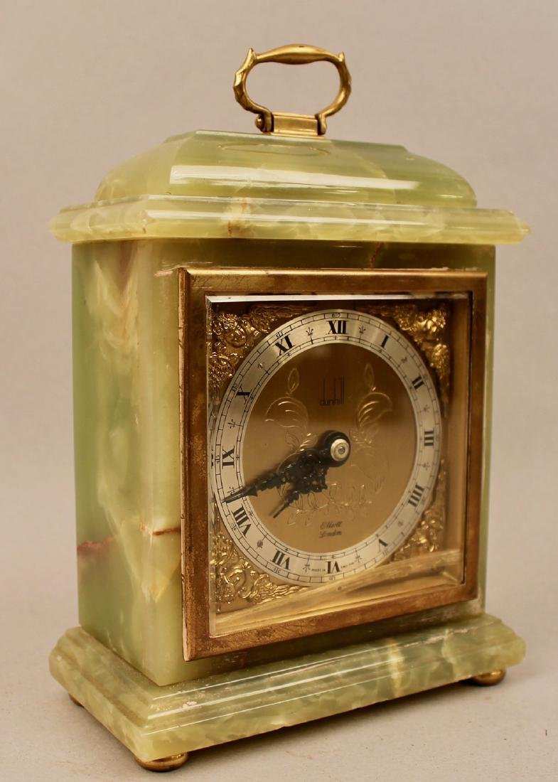 Dunhill Brass and Green Onyx Shelf Clock - 4