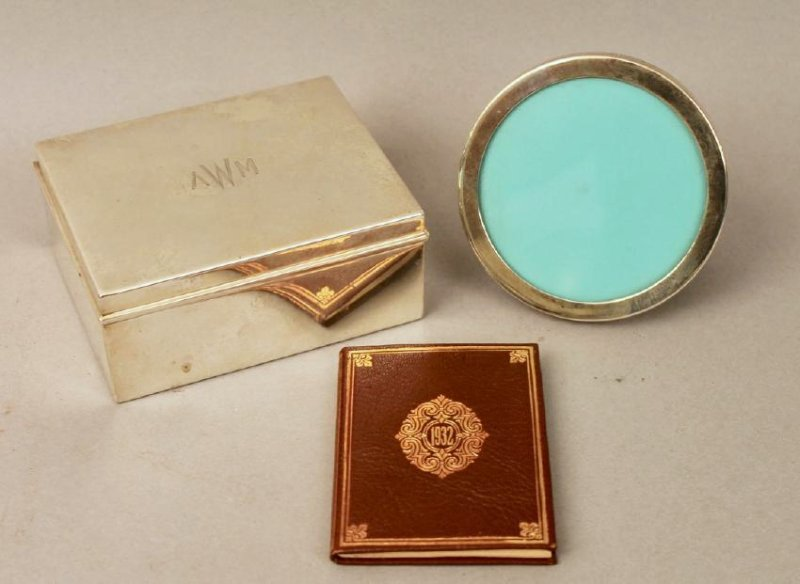 3 Pieces Tiffany, Memoranda, Sterling Box & Frame