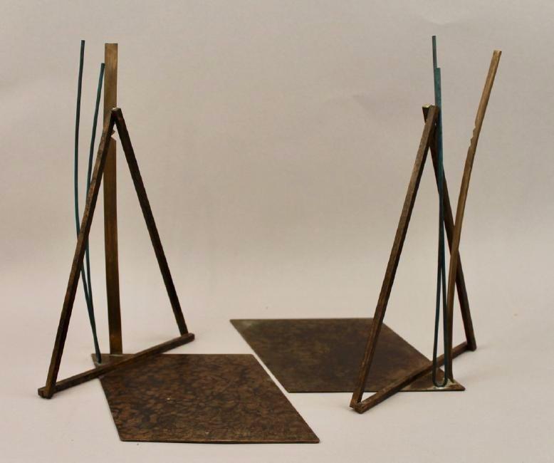 Pair of  Mid Century Bronze Bookends Higgins - 2