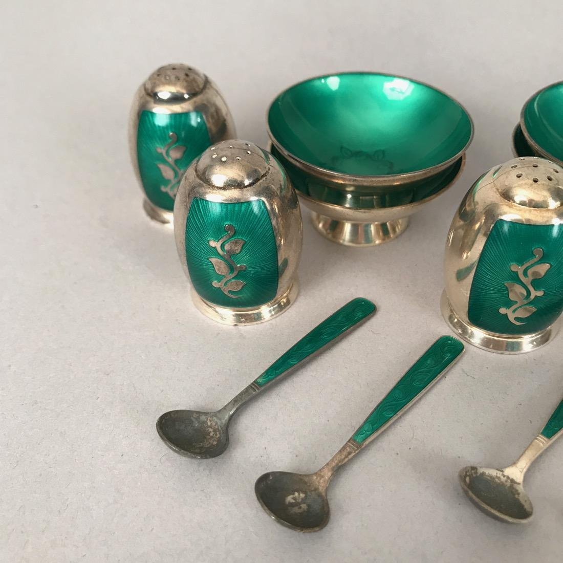 Danish Volmer Bahner Guilloche Salts & Shakers - 4