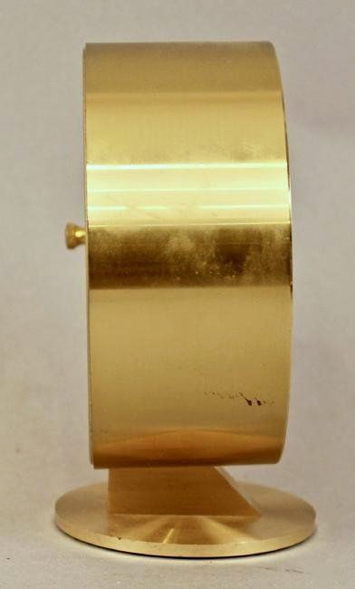 Howard Miller Mid Century Brass Table Clock - 2