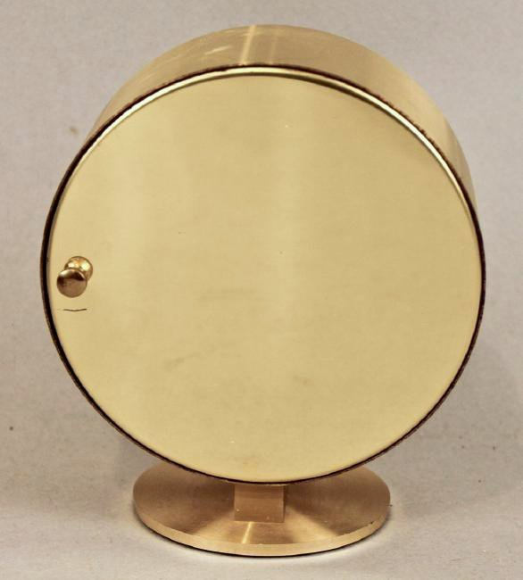 Howard Miller Mid Century Brass Table Clock - 3