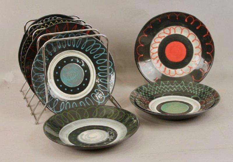 8 Mid Century Ceramic Plates