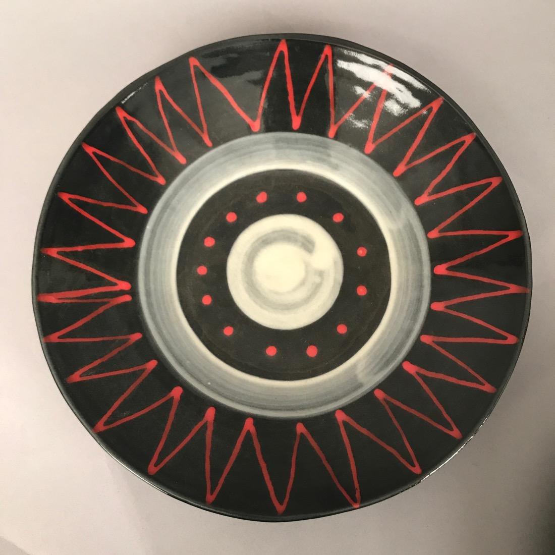 8 Mid Century Ceramic Plates - 6
