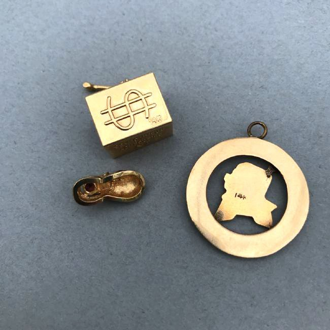 3 14K Gold Charms - 2