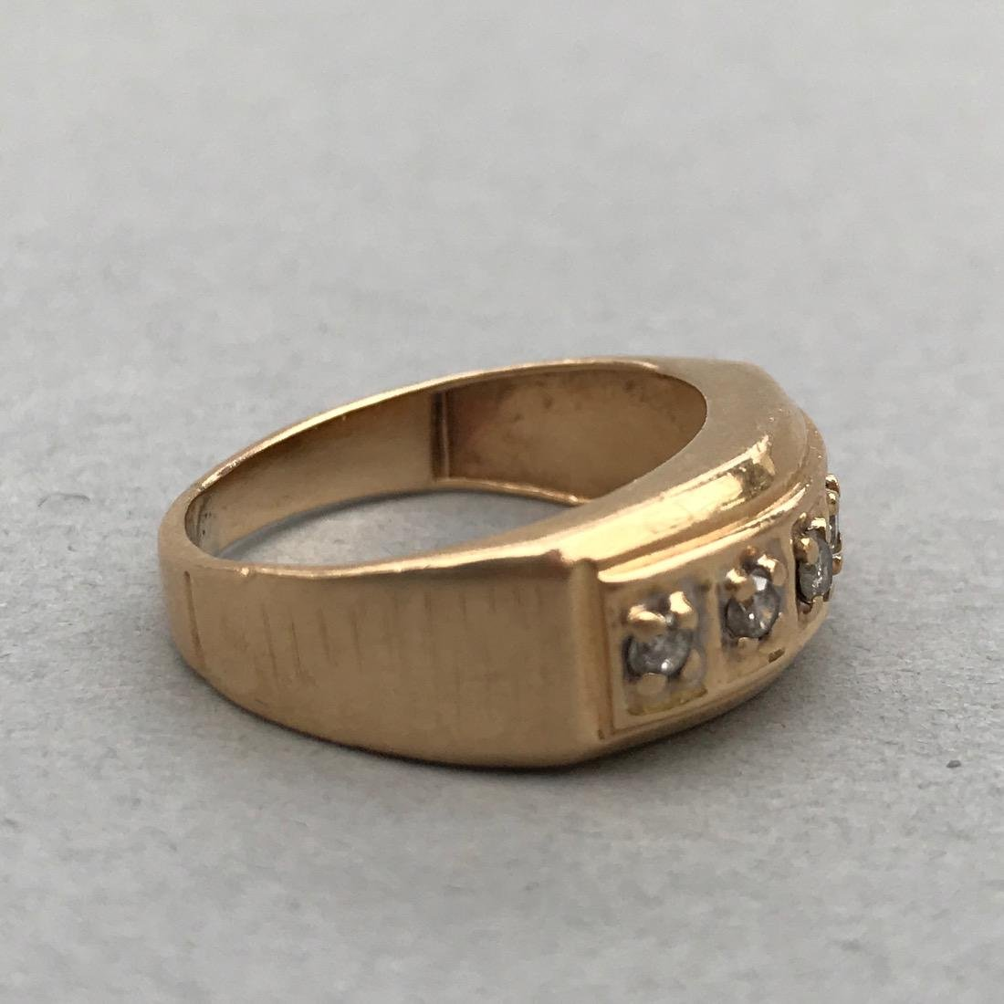 14K Gold Ring with 5 Diamonds - 3