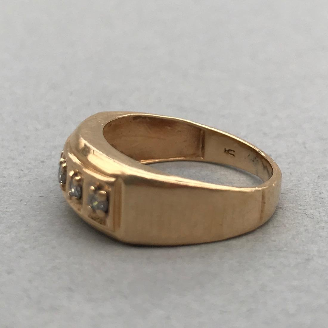 14K Gold Ring with 5 Diamonds - 4