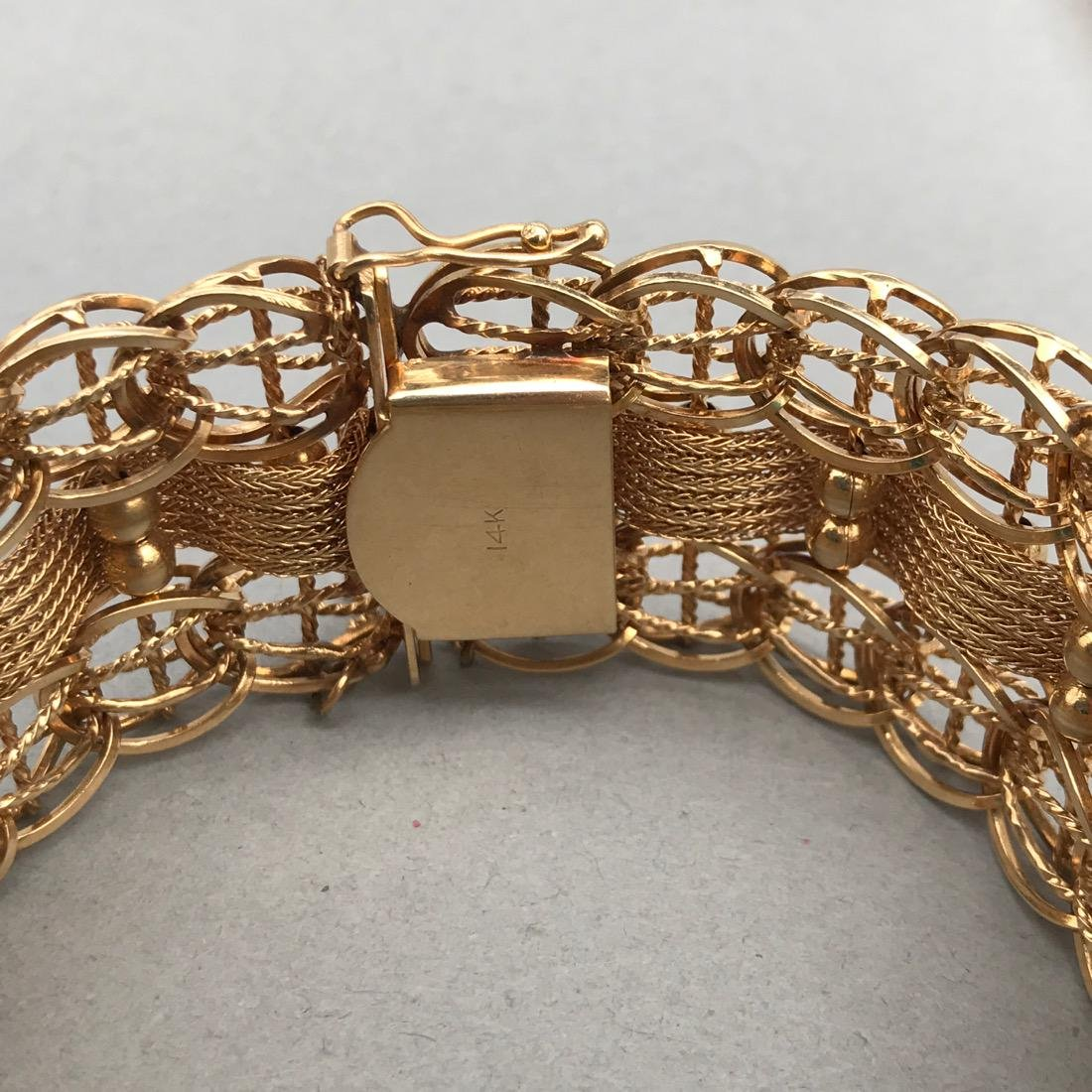 Ornate Woven Chain 14K Gold Bracelet - 2