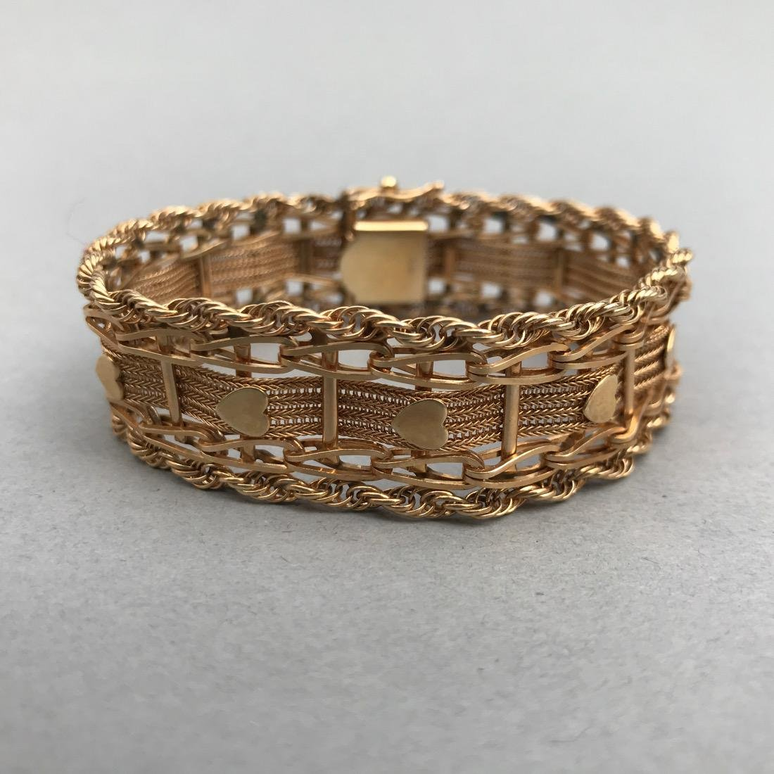 Intricate 14K Gold Bracelet