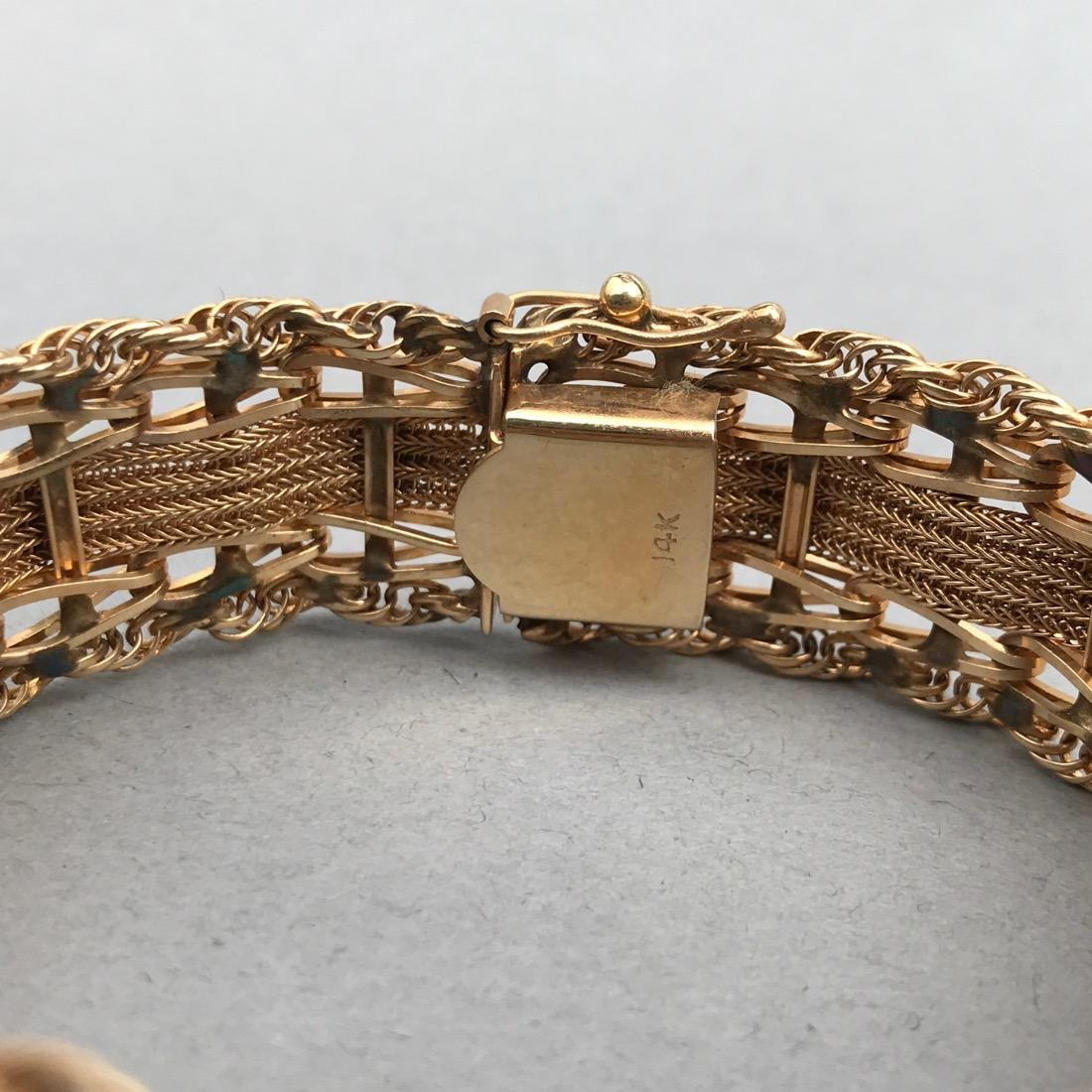 Intricate 14K Gold Bracelet - 2