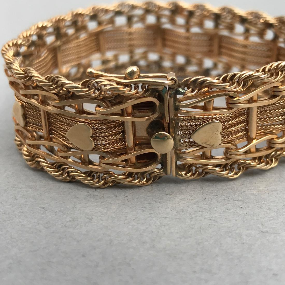 Intricate 14K Gold Bracelet - 3