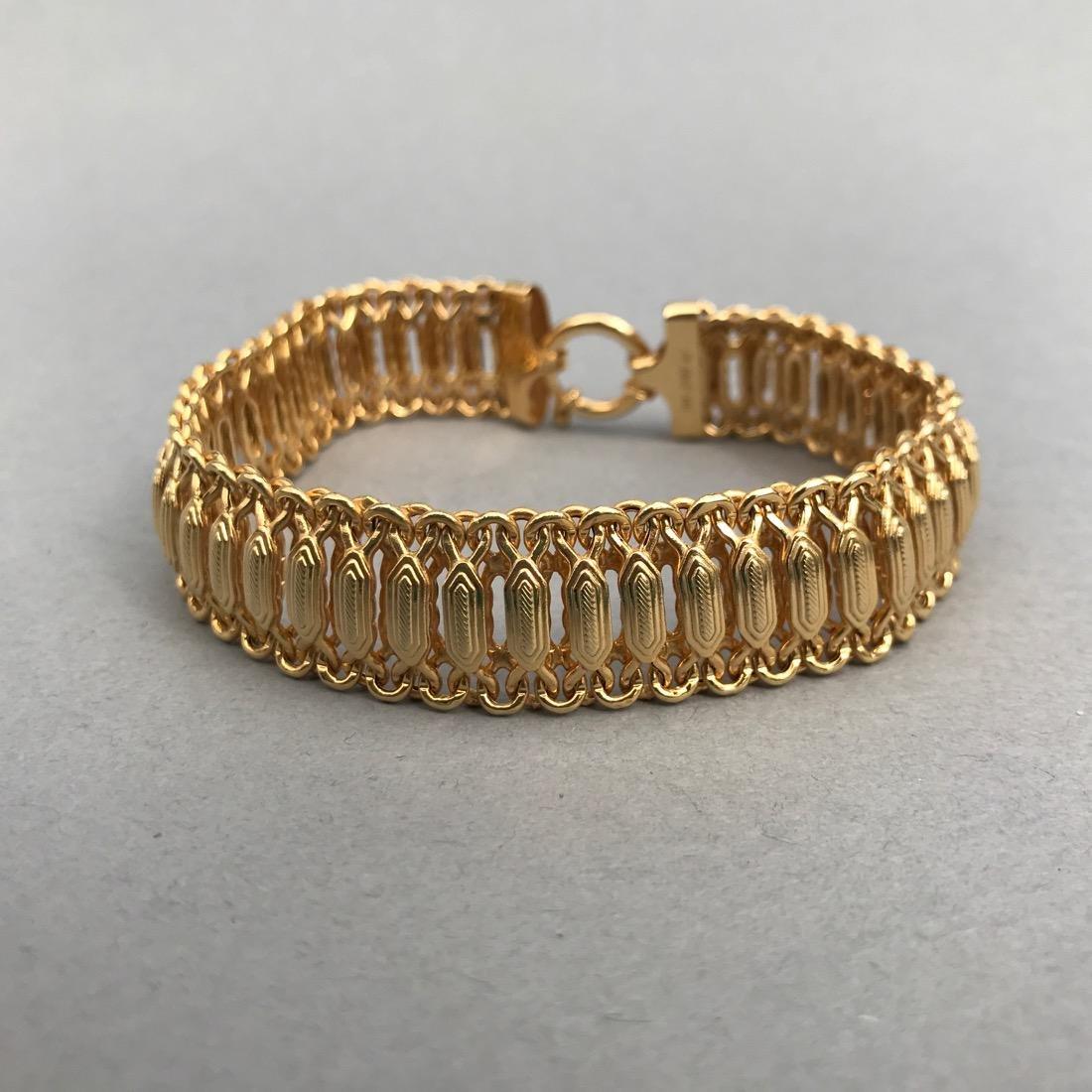 14K Gold Bracelet Beautiful Detail