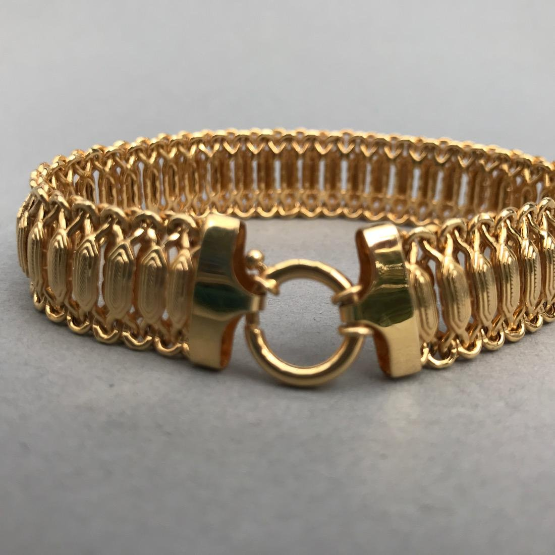 14K Gold Bracelet Beautiful Detail - 2
