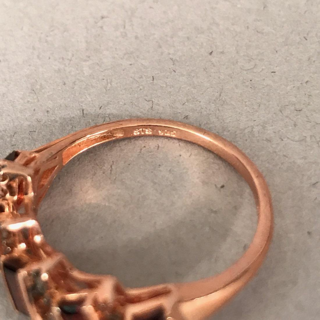 7 Sterling Silver Rings & 1 Bronze - 3
