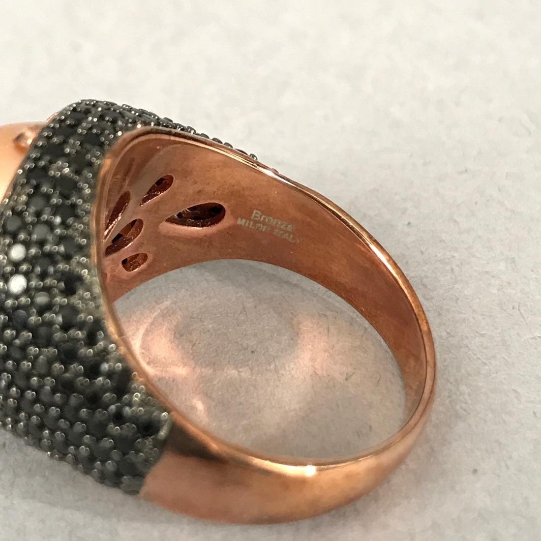 7 Sterling Silver Rings & 1 Bronze - 5