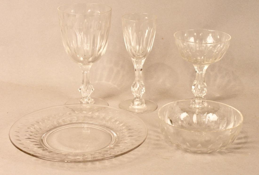 56 Pieces of Cut Crystal Stemware & Dishes - 2