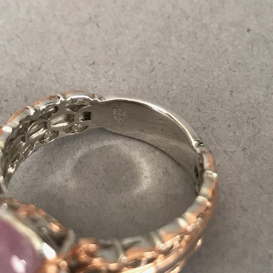 7 Sterling Silver Rings with Gold Accents - 4