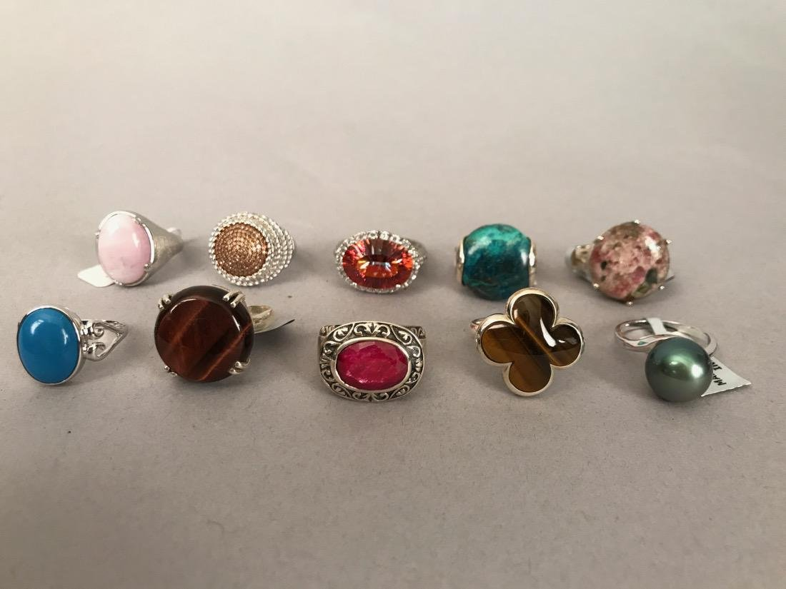 10 Sterling Silver Cocktail Rings