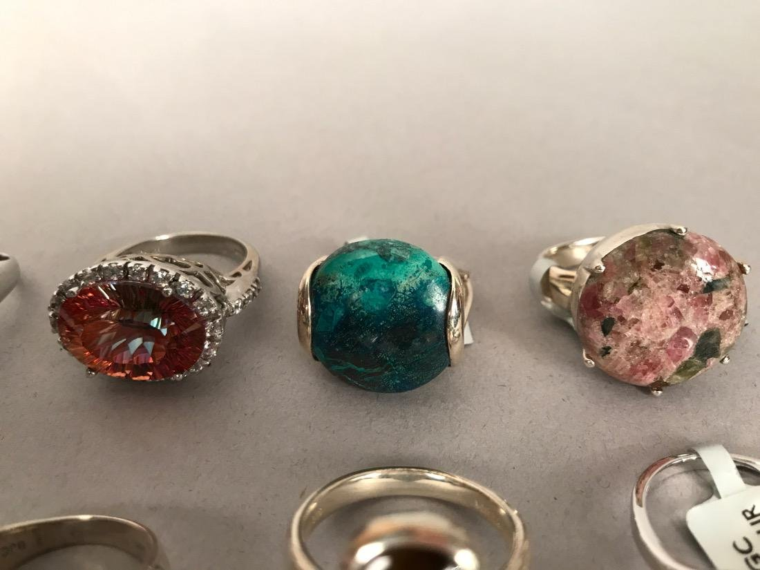 10 Sterling Silver Cocktail Rings - 3