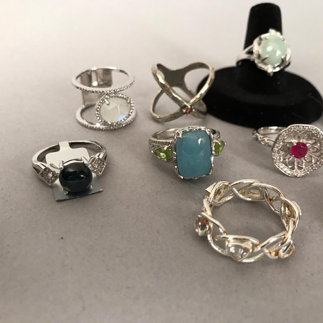 12 Sterlig Silver Rings - 3