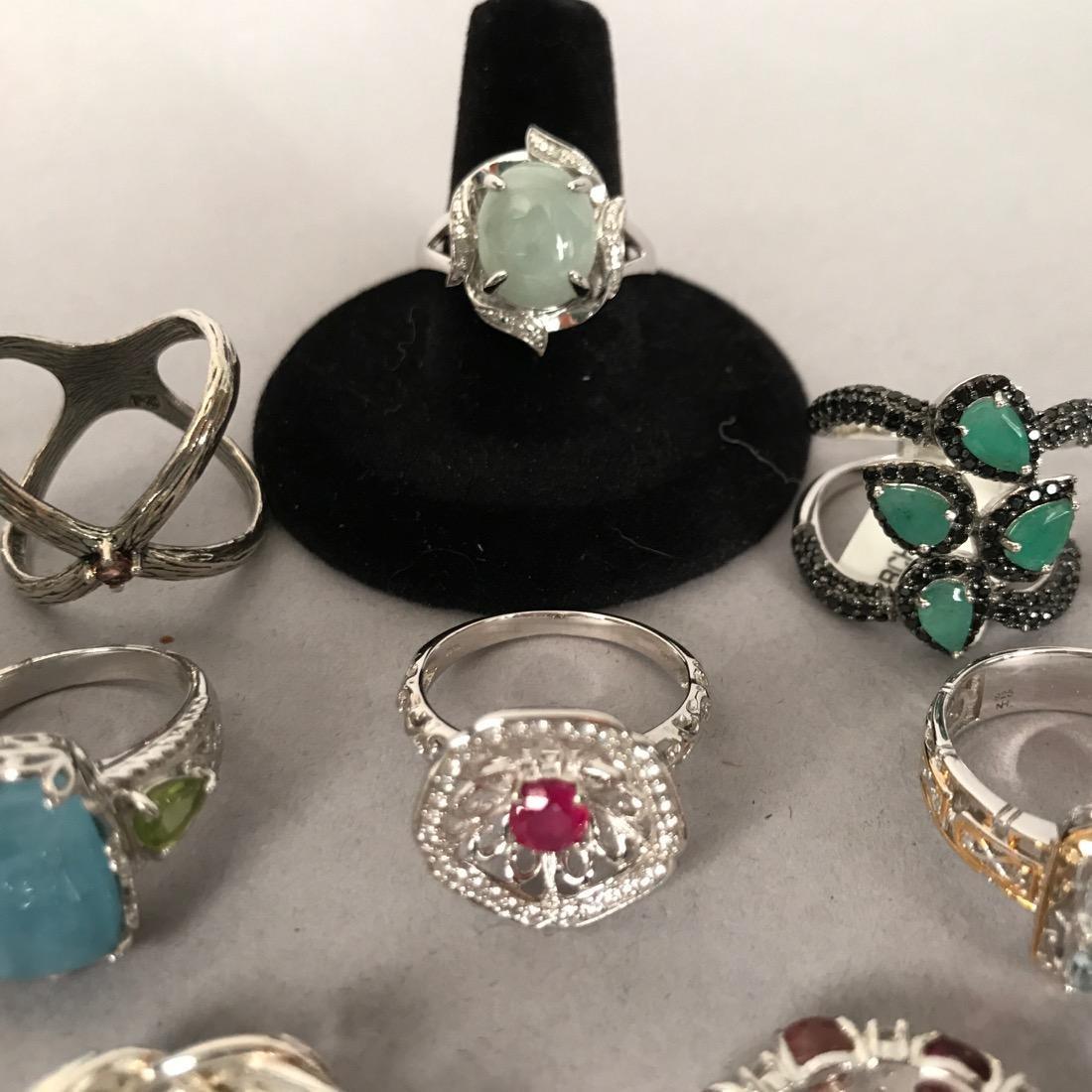 12 Sterlig Silver Rings - 4