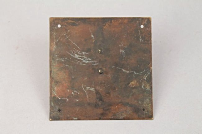 Square Bronze Sundial (Time Waits for No Man) - 2