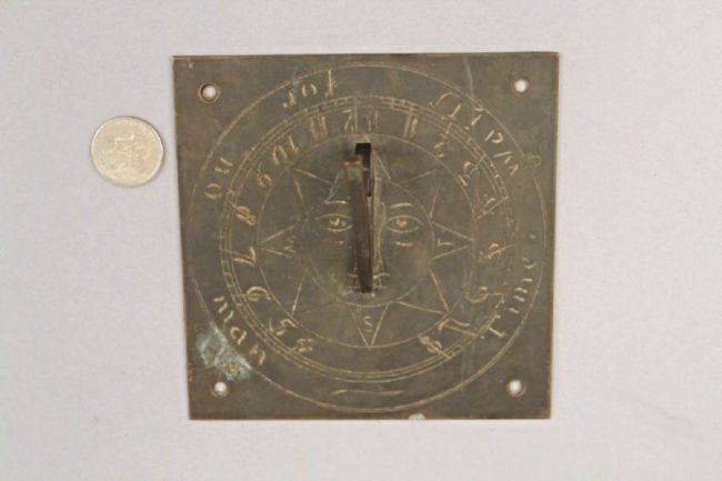 Square Bronze Sundial (Time Waits for No Man) - 4
