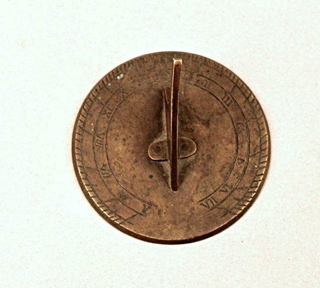 Small Bronze Sundial